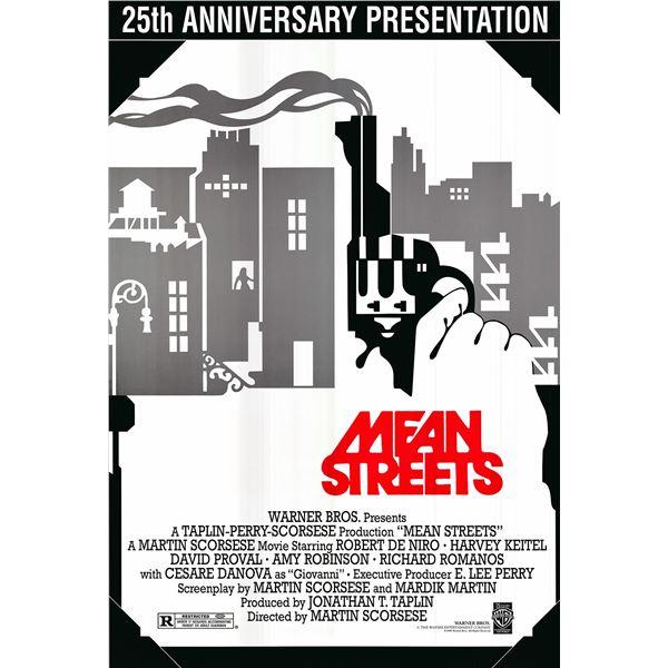 Mean Streets original 1998R vintage anniversary one sheet movie poster