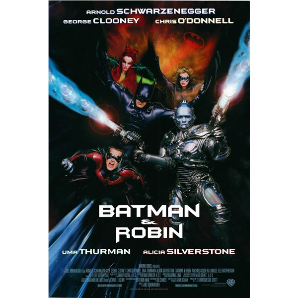 Batman and Robin 1997 original advance sheet