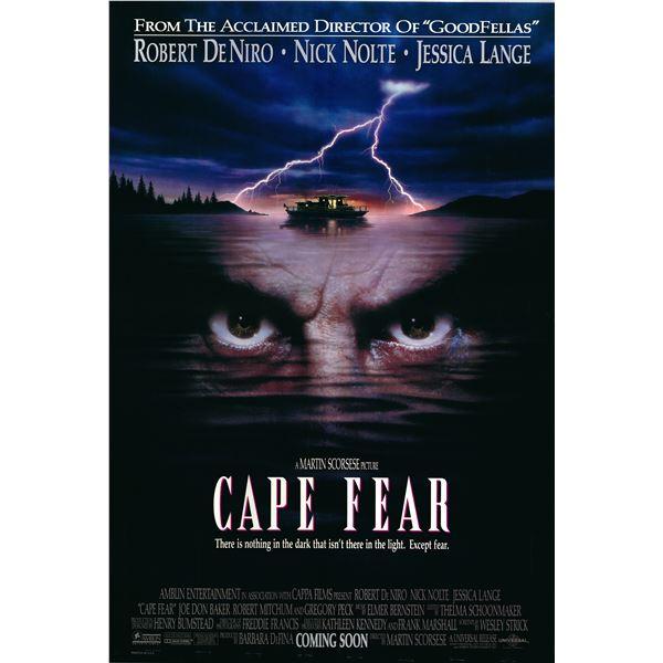 Cape Fear 1991 original vintage advance sheet movie poster