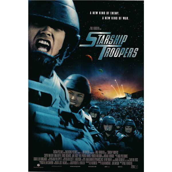 Starship Troopers original 1997 vintage one sheet movie poster