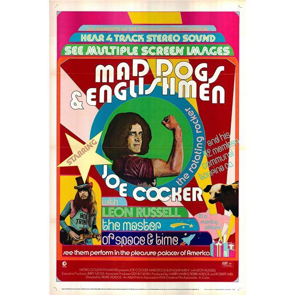 Mad Dogs & Englishmen original 1971 vintage one sheet movie poster