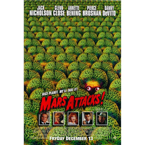 Mars Attacks! 1996 original movie poster