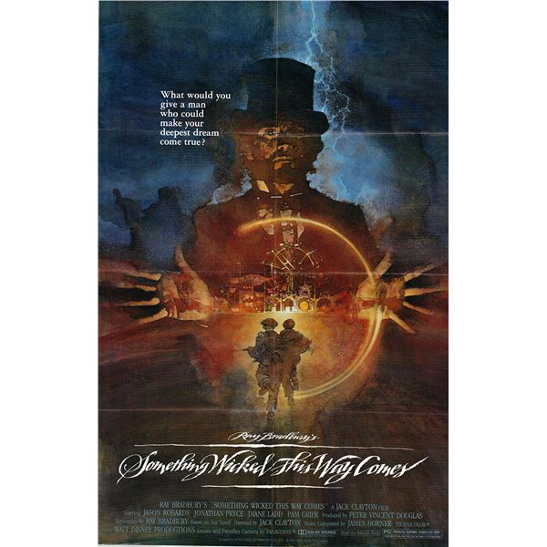 Something Wicked This Way Comes original 1982 vintage one sheet movie poster