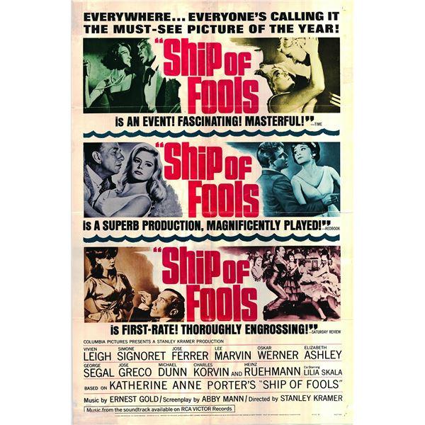 Ship of Fools original 1965 vintage one sheet movie poster