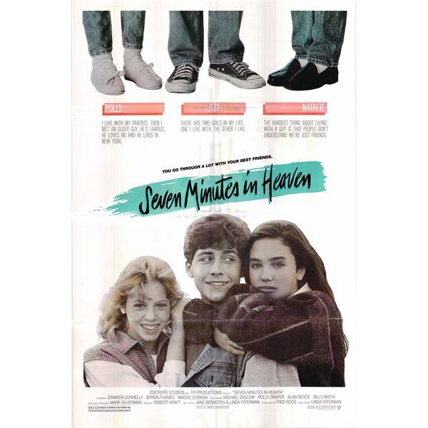 Seven Minutes in Heaven original 1986 vintage one sheet movie poster