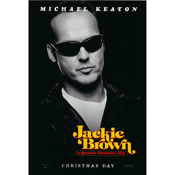Jackie Brown (Michael Keaton) 1997 original advance sheet movie poster