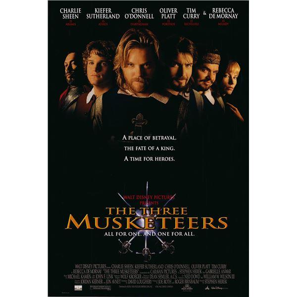 Three Musketeers original 1993 vintage one sheet movie poster