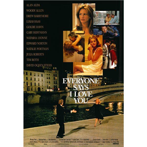 Everyone Says I Love You 1996 original one sheet movie poster