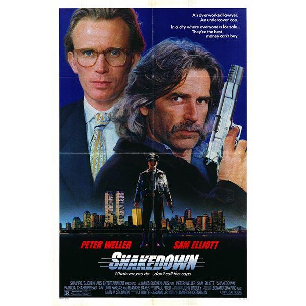 Shakedown original 1988 vintage one sheet movie poster