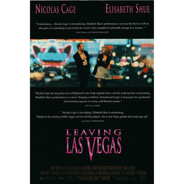 Leaving Las Vegas 1995 original one sheet movie poster