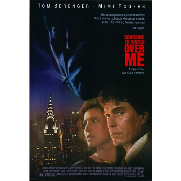 Someone to Watch Over Me original 1987 vintage one sheet movie poster