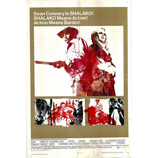 Shalako original 1968 vintage one sheet movie poster