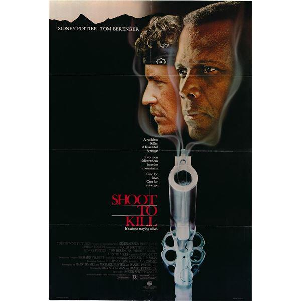 Shoot to Kill original 1987 vintage one sheet poster