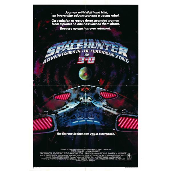 Spacehunter original 1983 vintage one sheet movie poster