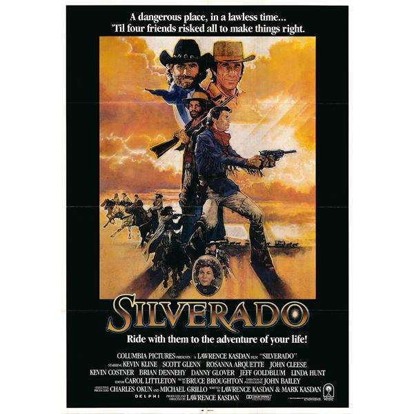 Silverado original 1985 vintage one sheet movie poster