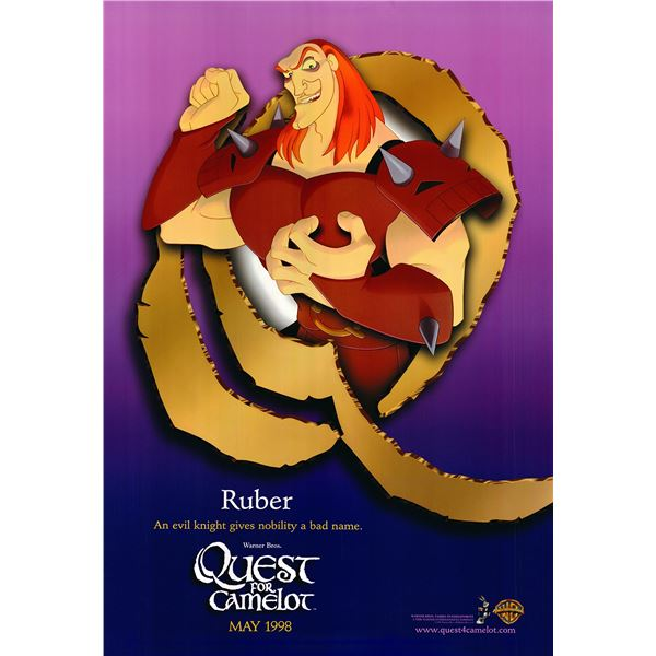 Quest for Camelot original 1998 vintage character poster - Ruber