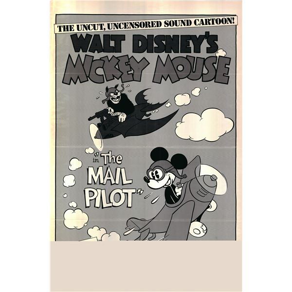 Mickey Mouse - The Mail Pilot 1974R original vintage one sheet movie poster