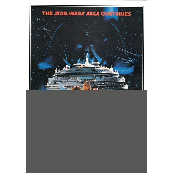 The Empire Strikes Back 1995R one sheet movie poster