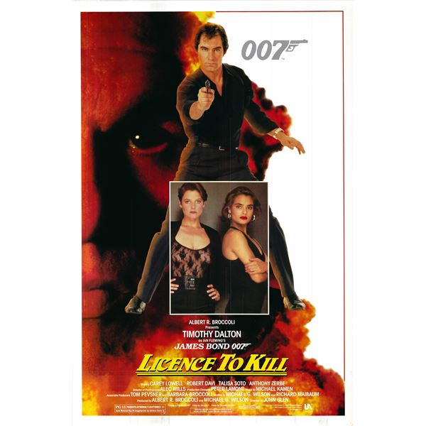Licence to Kill 1989 original vintage one sheet movie poster