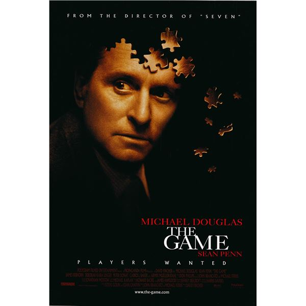 The Game original 1997 vintage one sheet movie poster