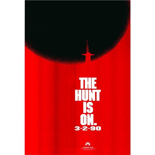 The Hunt for Red October original 1990 vintage advance one sheet movie poster