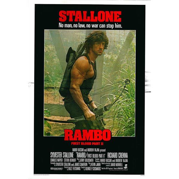 Rambo: First Blood Part II original 1985 vintage one sheet movie poster
