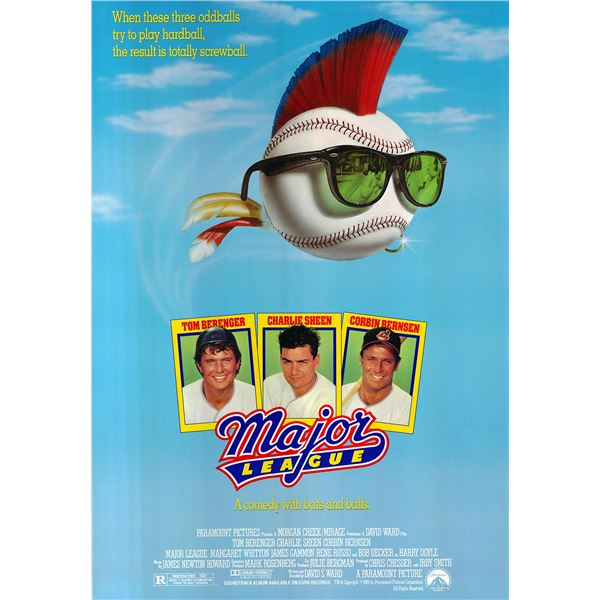 Major League original 1989 vintage one sheet movie poster