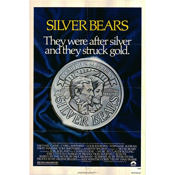 Silver Bears original 1977 vintage one sheet movie poster