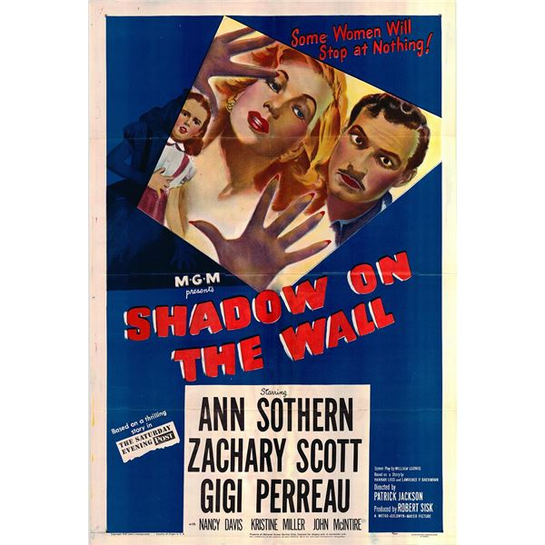Shadow on the Wall original 1949 vintage one sheet movie poster