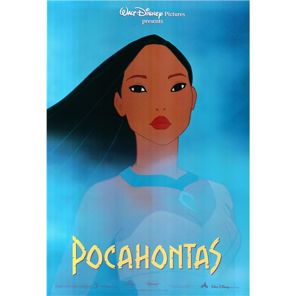 Pocahontas original 1995 vintage international one sheet movie poster