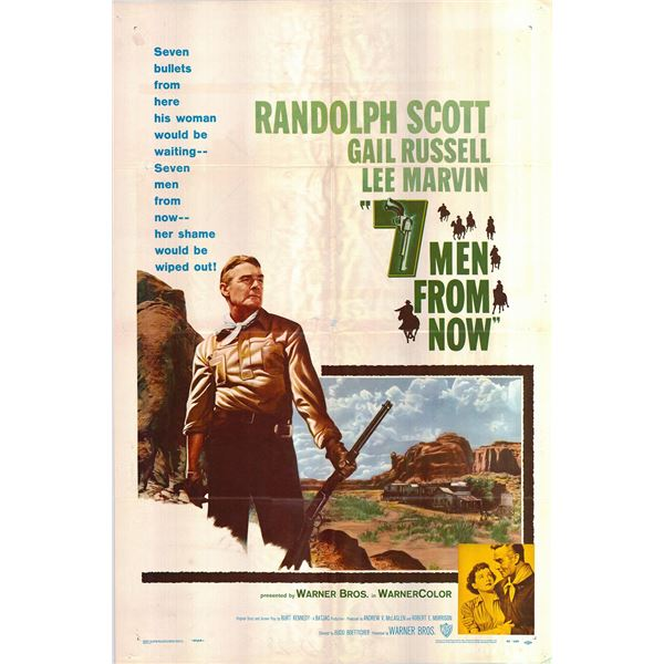 7 Men From Now original 1956 vintage one sheet movie poster