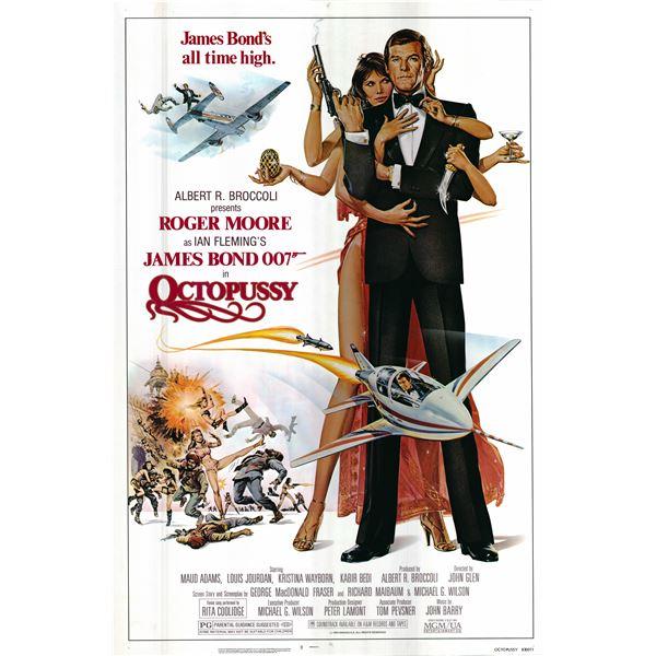 Octopussy 1983 original movie poster
