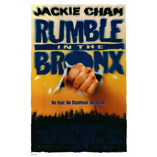 Rumble in the Bronx original 1996 vintage advance one sheet movie poster
