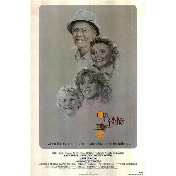 On Golden Pond 1981 original vintage movie poster