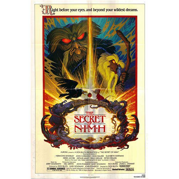 The Secret of NIMH original 1982 vintage one sheet movie poster