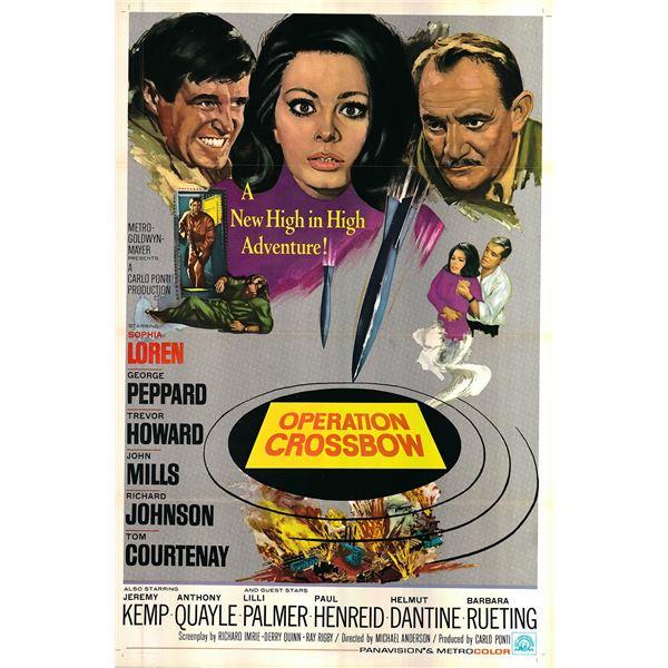 Operation Crossbow original 1965 vintage one sheet movie poster