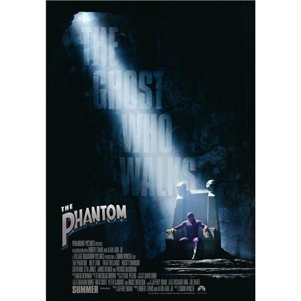 The Phantom original 1996 vintage advance one sheet movie poster