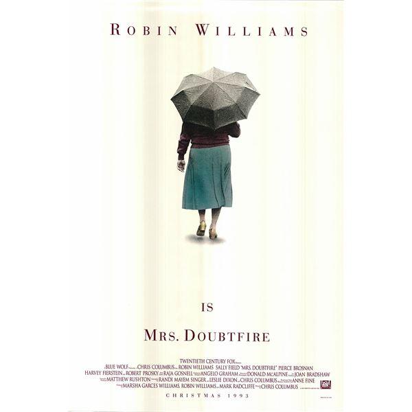 Mrs. Doubtfire original 1993 vintage advance one sheet movie poster