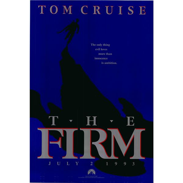 The Firm original 1993 vintage advance one sheet movie poster