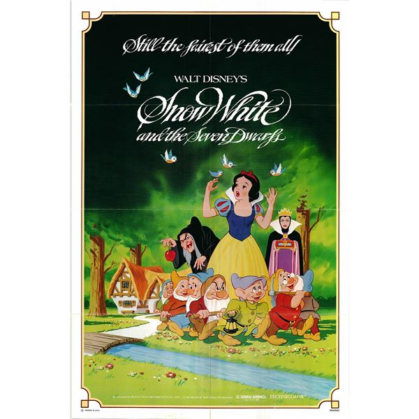 Snow White and the Seven Dwarfs original 1983R vintage one sheet movie poster