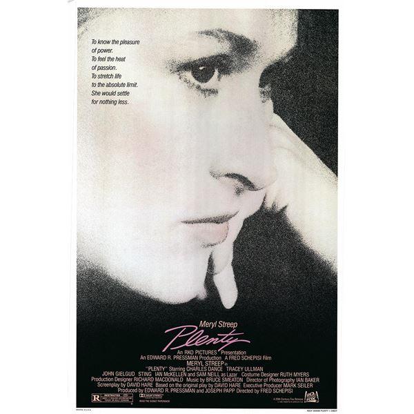 Plenty 1985 original vintage movie poster