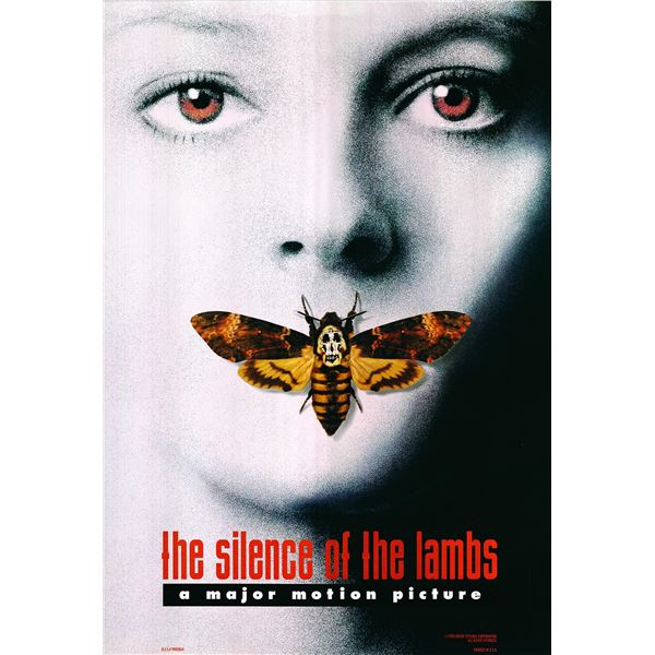 The Silence of the Lambs original 1991 vintage one sheet movie poster