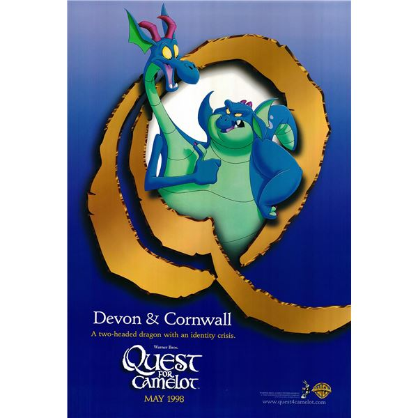 Quest for Camelot original 1998 vintage character poster - Devon and Cornwall