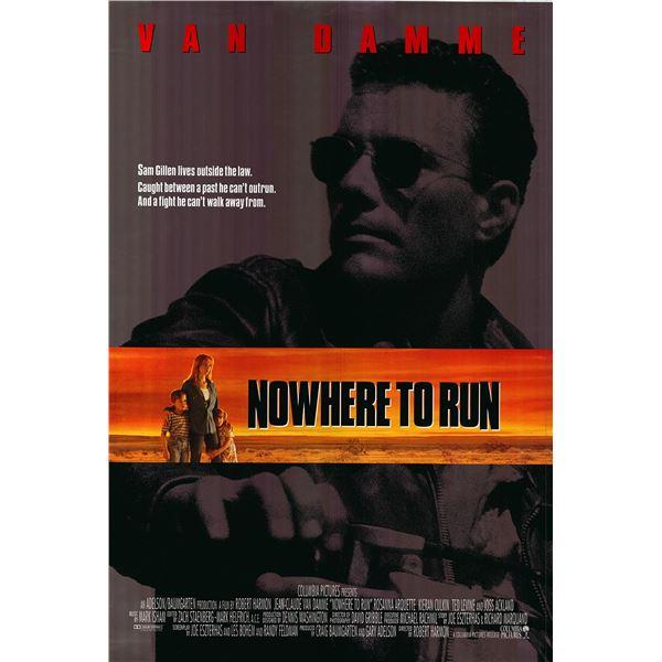 Nowhere to Run 1992 original movie poster