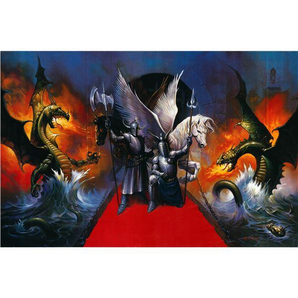 Kingdom of the Knights 1989R original Ken Kelly movie poster