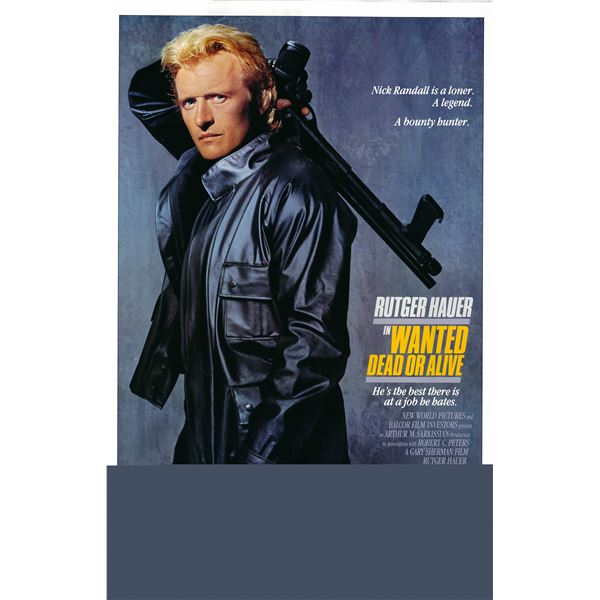 Wanted: Dead or Alive 1987 original vintage one sheet movie poster