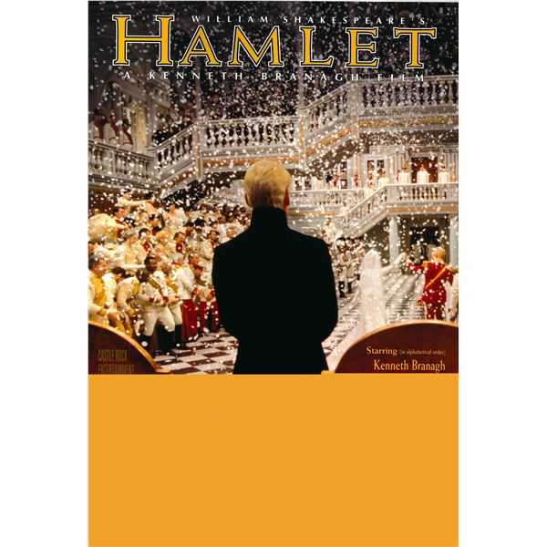 Hamlet 1996 original advance sheet movie poster