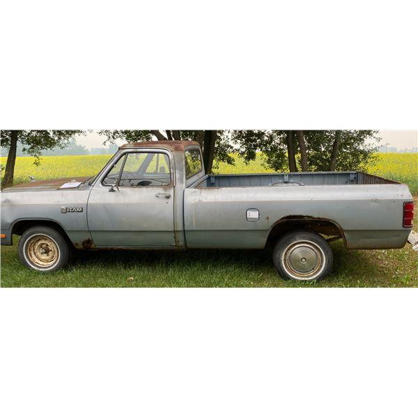 1985 1/2 Ton Dodge Custom 100 Ram w/ Slant 6