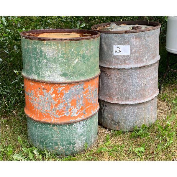 (2) 45 Gal. Gas Drums