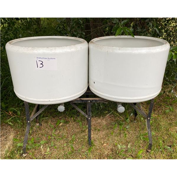 Double Laundry Tubs on Stand